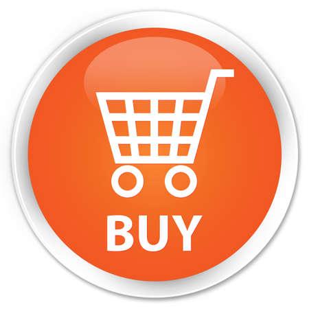 glossy: Buy orange glossy round button