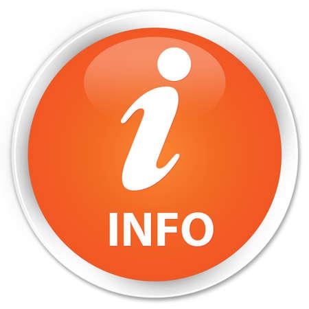 informing: Info orange glossy round button