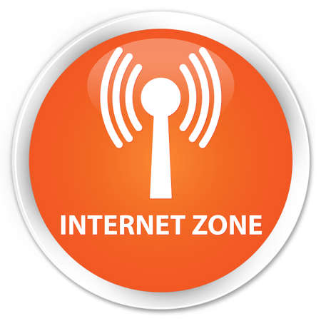 wlan: Internet zone (wlan network) orange glossy round button