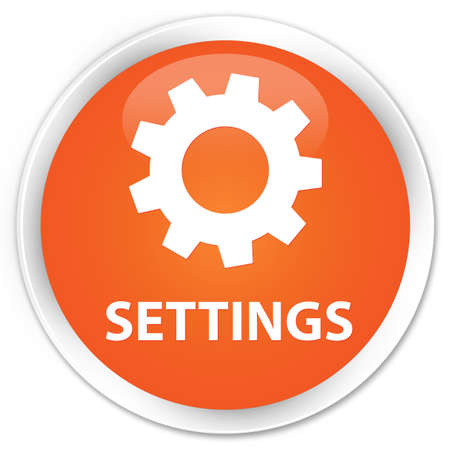 preference: Settings orange glossy round button