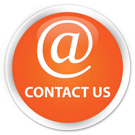 email contact: Contact us (email address icon) orange glossy round button