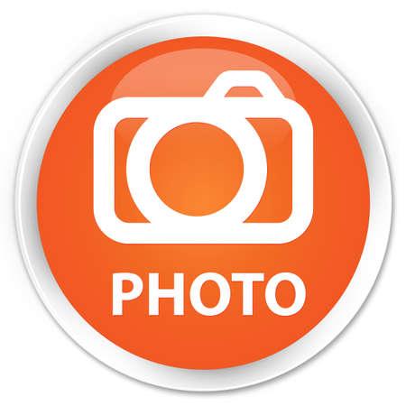 photo slide: Photo (camera icon) orange glossy round button
