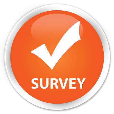 validate: Survey (validate icon) orange glossy round button
