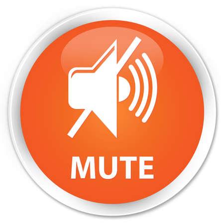 round: Mute orange glossy round button