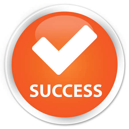 allow: Success (validate icon) orange glossy round button