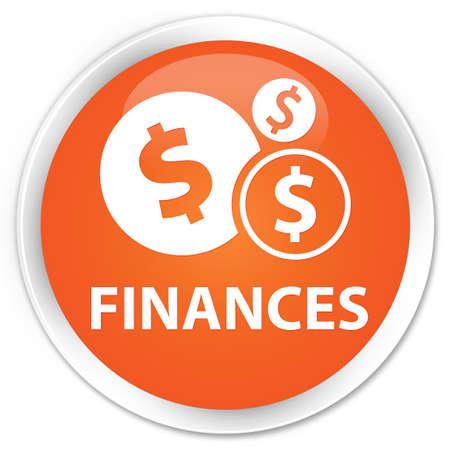 sign orange: Finances (dollar sign) orange glossy round button