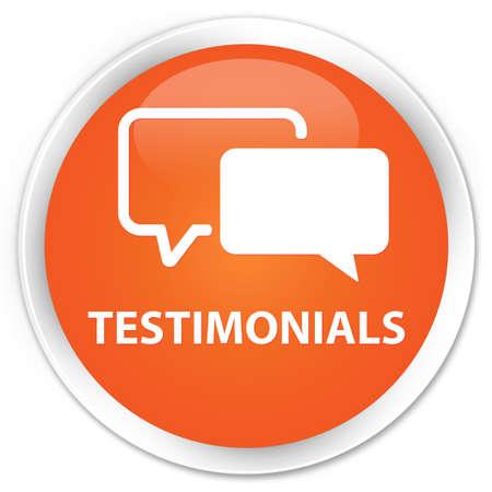 authenticate: Testimonials orange glossy round button
