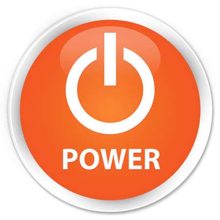 shut off: Power orange glossy round button