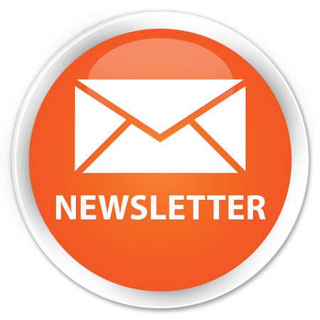 round: Newsletter orange glossy round button