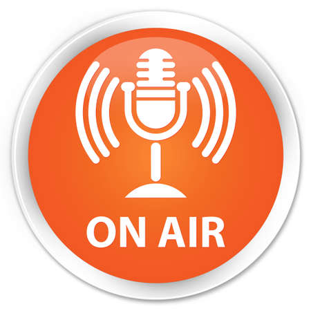 voices: On air (mic icon) orange glossy round button
