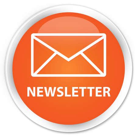 feeds: Newsletter orange glossy round button