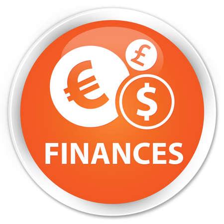 sign orange: Finances (euro sign) orange glossy round button Stock Photo