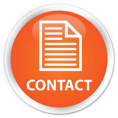 contact page: Contact (page icon) orange glossy round button