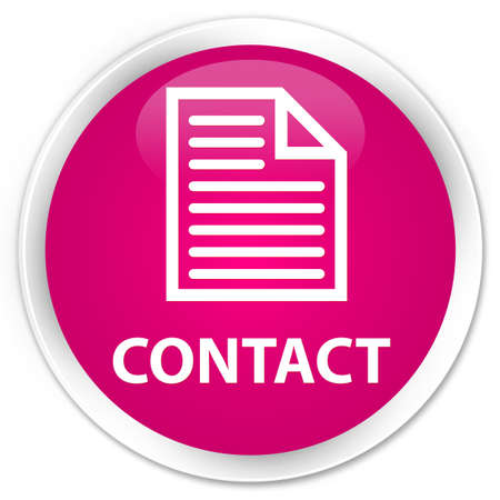directory book: Contact (page icon) pink glossy round button