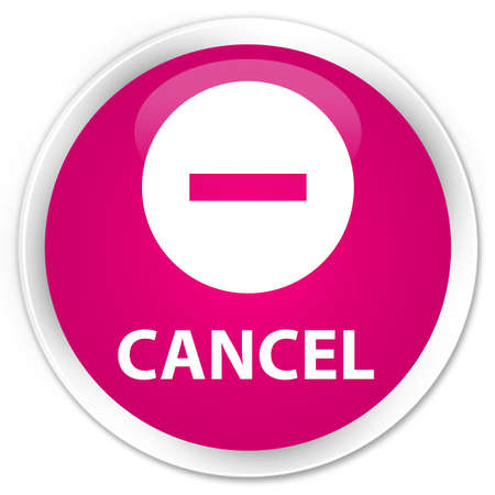 cancel: Cancel pink glossy round button