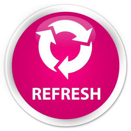 round: Refresh pink glossy round button