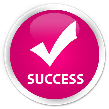 validate: Success (validate icon) pink glossy round button