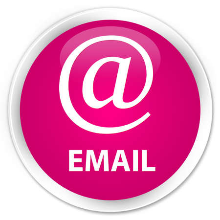 email address: Email (address icon) pink glossy round button Stock Photo
