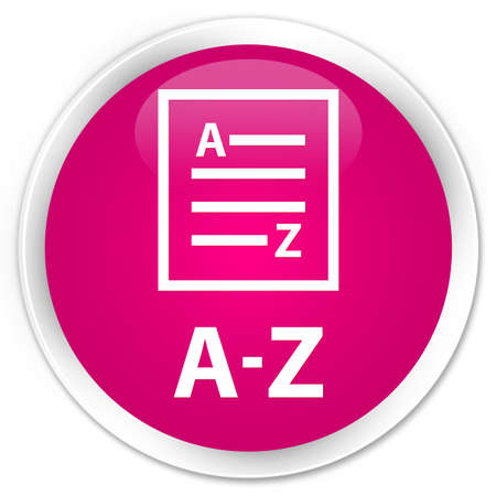 az: A-Z (list page icon) pink glossy round button