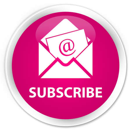 flysheet: Subscribe (newsletter email icon) pink glossy round button