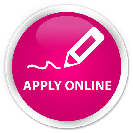 apply: Apply online (edit pen icon) pink glossy round button