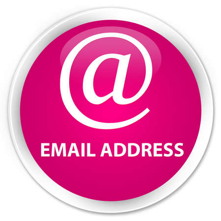 email address: Email address pink glossy round button