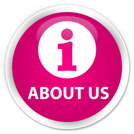 about us: About us pink glossy round button