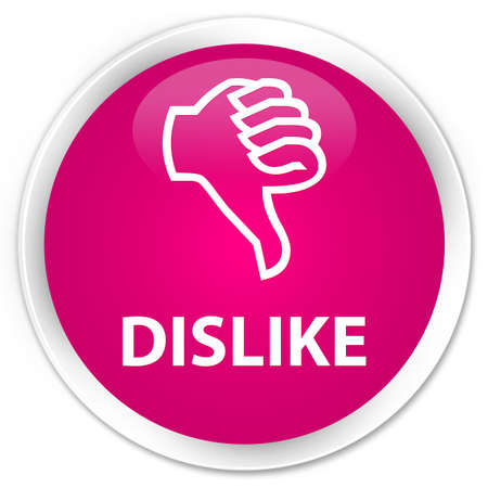 disapprove: Dislike pink glossy round button