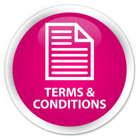 information technology law: Terms and conditions (page icon) pink glossy round button Stock Photo