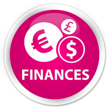 euro sign: Finances (euro sign) pink glossy round button Stock Photo