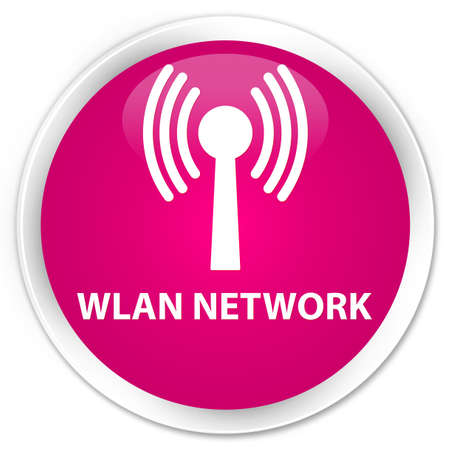 wlan: Wlan network pink glossy round button