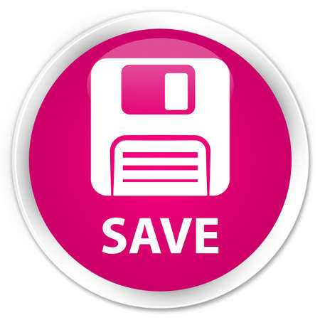 Floppy disk: Save (floppy disk icon) pink glossy round button