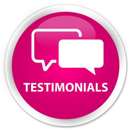authenticate: Testimonials pink glossy round button