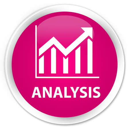 stat: Analysis (statistics icon) pink glossy round button