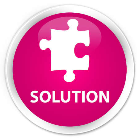 plugin: Solution (puzzle icon) pink glossy round button