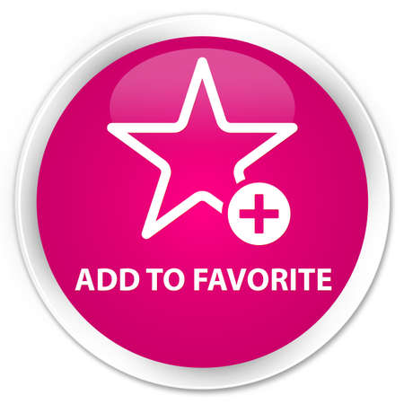 add button: Add to favorite pink glossy round button