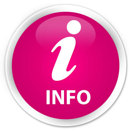 inquiry: Info pink glossy round button Stock Photo