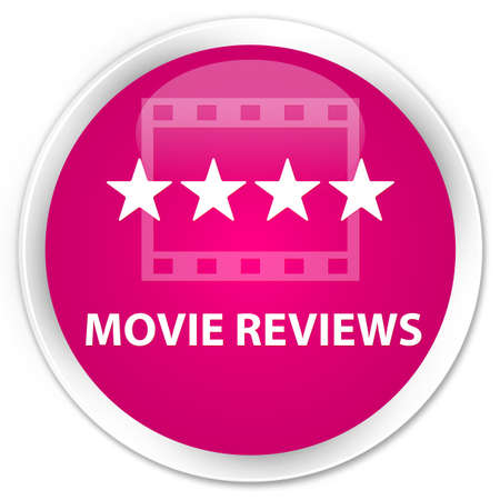 opinions: Movie reviews pink glossy round button