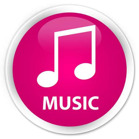 tune: Music (tune icon) pink glossy round button