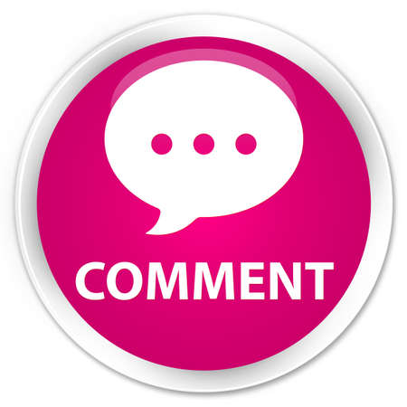 comment: Comment (conversation icon) pink glossy round button