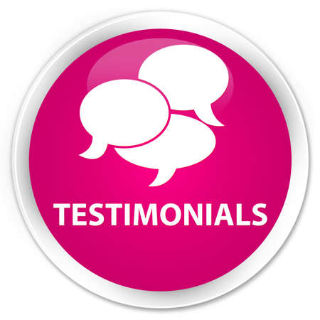 authenticate: Testimonials (comments icon) pink glossy round button