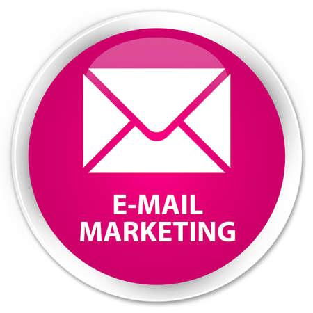 flysheet: E-mail marketing pink glossy round button Stock Photo