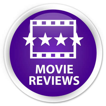reviews: Movie reviews purple glossy round button