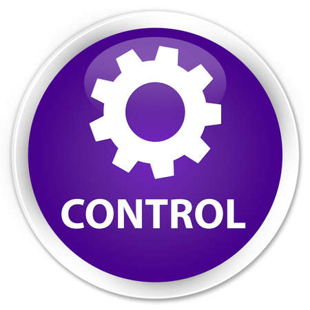 preference: Control (settings icon) purple glossy round button