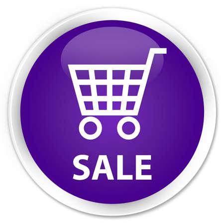 round: Sale purple glossy round button