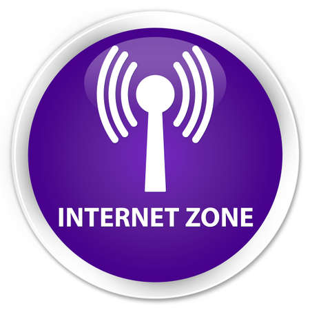 wlan: Internet zone (wlan network) purple glossy round button