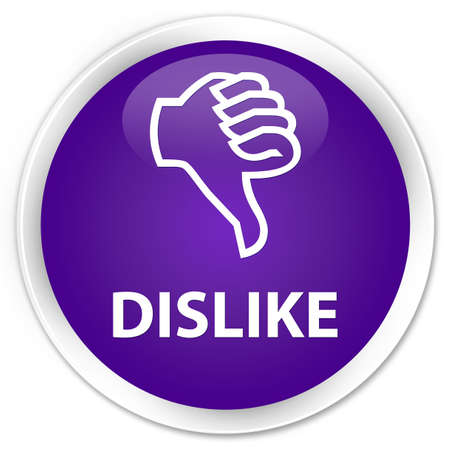 disapprove: Dislike purple glossy round button