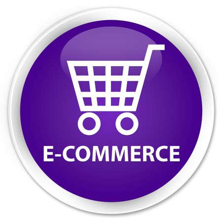round: E-commerce purple glossy round button