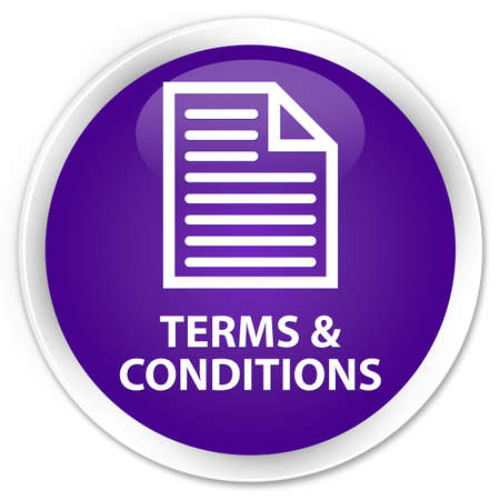 terms: Terms and conditions (page icon) purple glossy round button