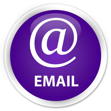 email address: Email (address icon) purple glossy round button